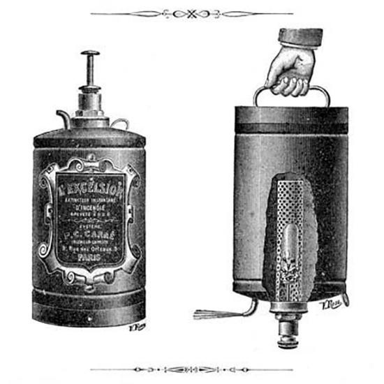 Кислотный огнетушитель «Excelsior» системы Карре, Франция, 1900 год