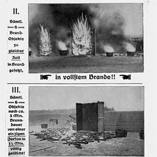 Испытания огнетушителей в начале 20 века