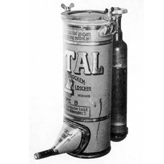 Порошковые огнетушители Total с внешним сосудом для газа-вытеснителя CO2