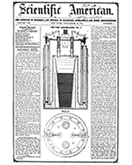 «Уничтожитель огня» (Fire Annihilator) Филипса. Иллюстрация из газеты «Scientific American» от 20.09.1851