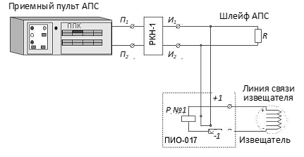 Рис. 3. Схема включения ДПС-038 в приемную аппаратуру