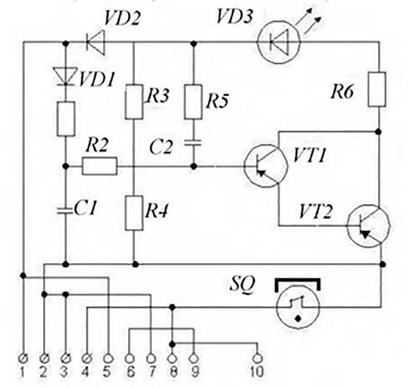 Рис. 2. Электрическая схема ИПР