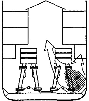 Схема развития пожара в машинно-котельном отделении