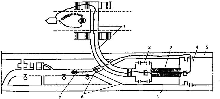 Схема боевого развертывания в пункте отстоя и оборота подвижного состава